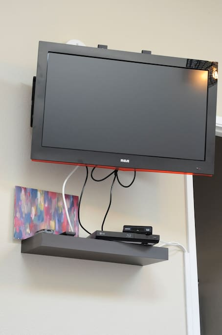 Television with Blueray and DVD player