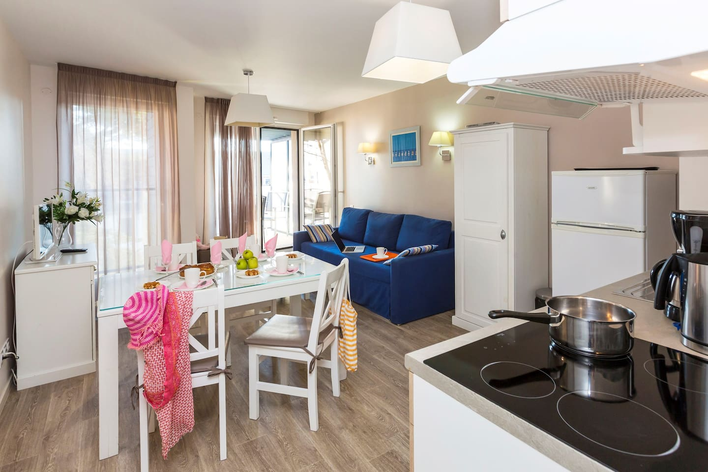 Welcome to our cozy and open apartment in Pornichet.