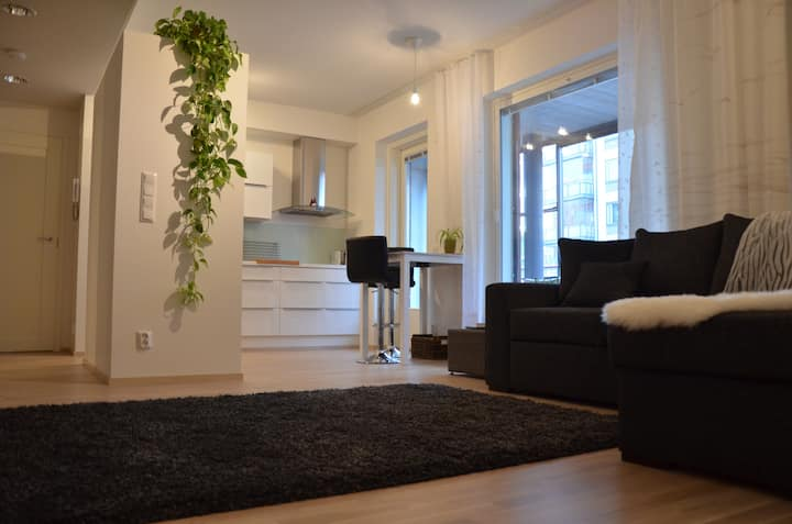 Lakeside apartment with sauna & free parking