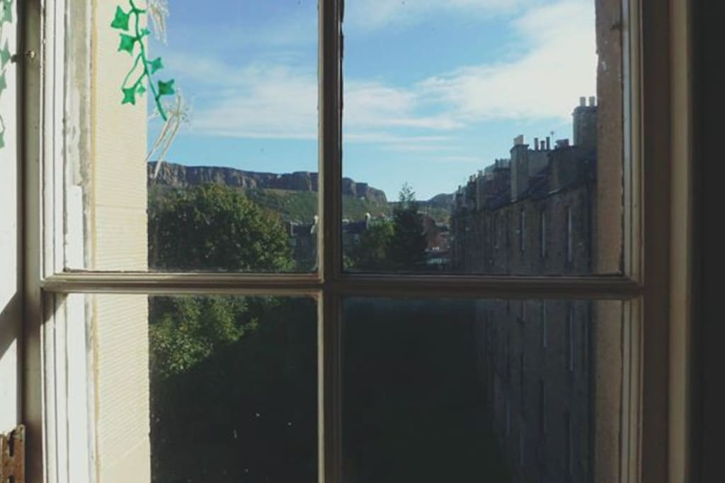 View from the kitchen (Arthur's Seat)