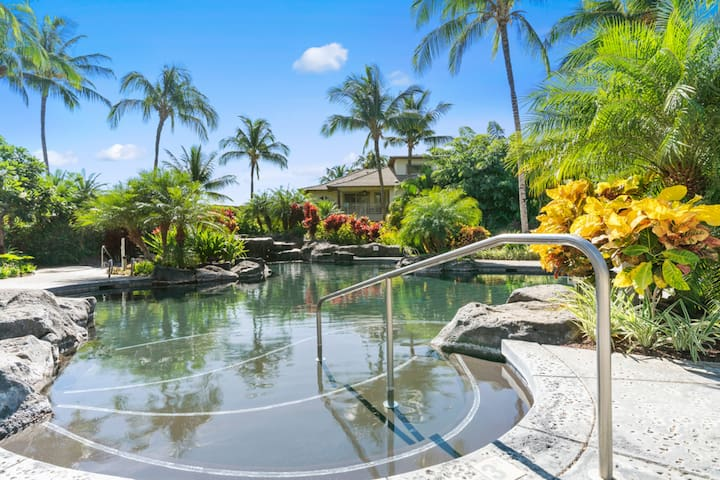Hawaiian style Palm Villas at Mauna Lani w/ pool