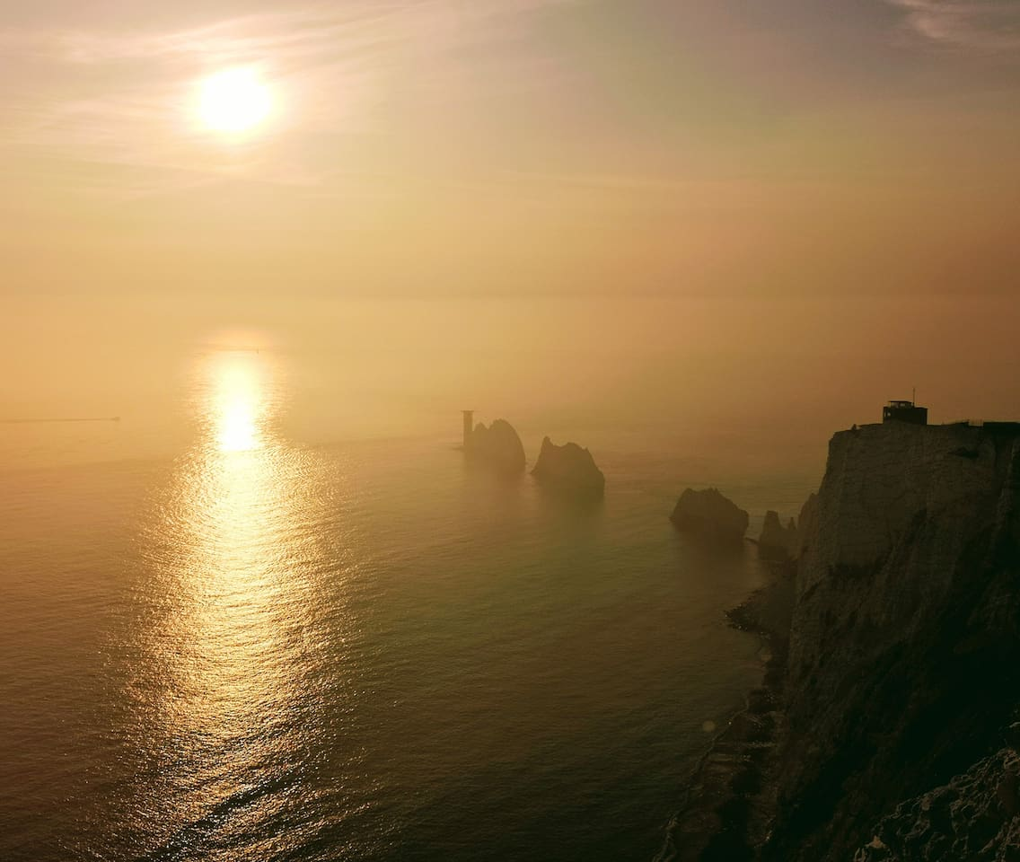 The Needles, a stunning 25 minute drive from Ventnor along the Dinasaur Island Coast.