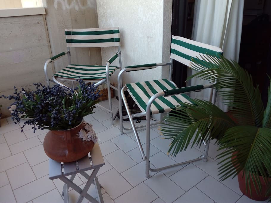 the private terrace and veranda studio