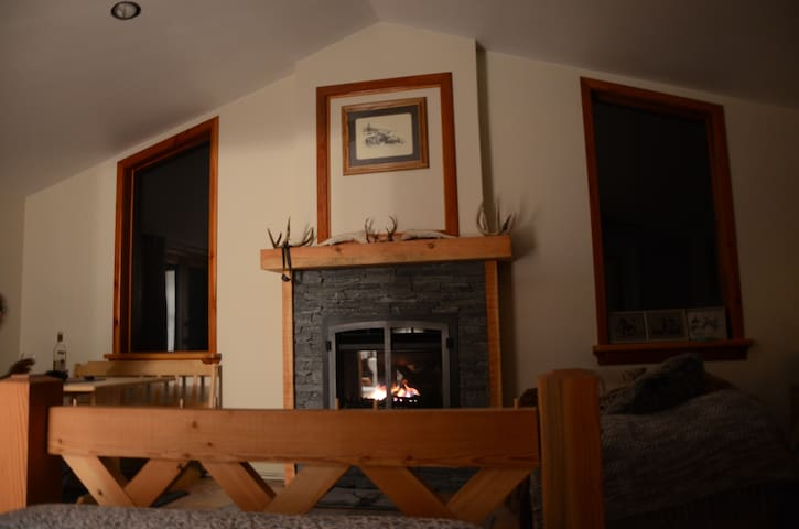 Private suite with gas fireplace - Kaslo