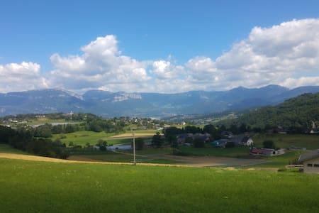 Chambre privée ds chalet vue panoramique - Vimines