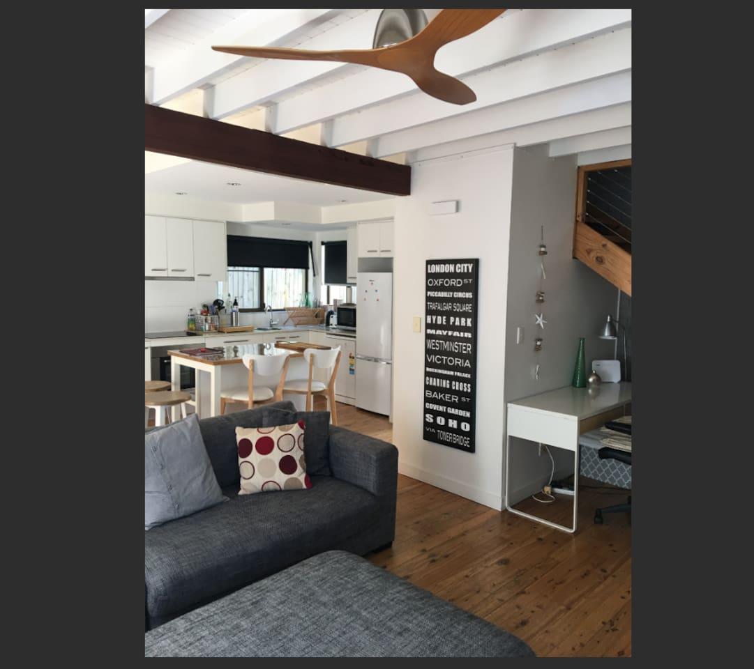 Modern beach house layout