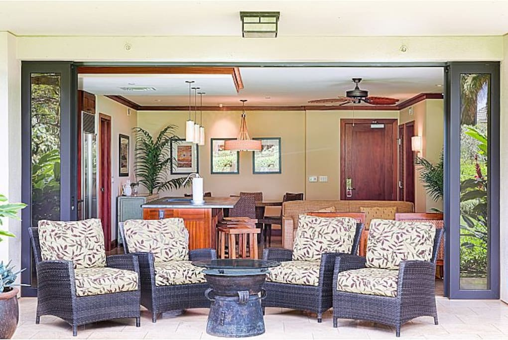 Sit back and relax at your own lanai!