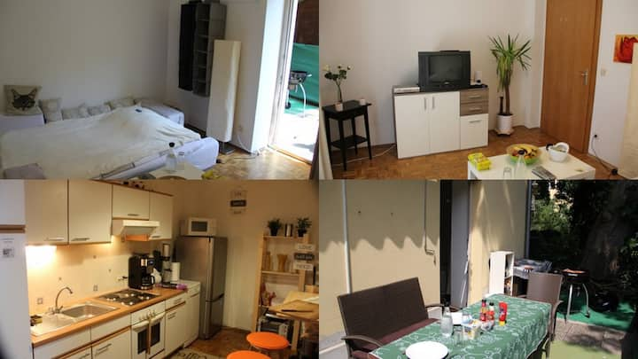Quiet, single Room in Central Graz with terrace