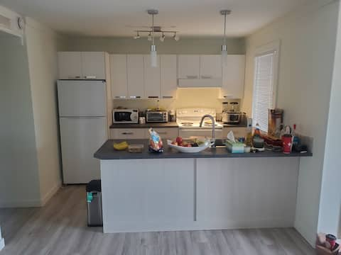 Lovely 1-bedroom rental unit with indoor fireplace.