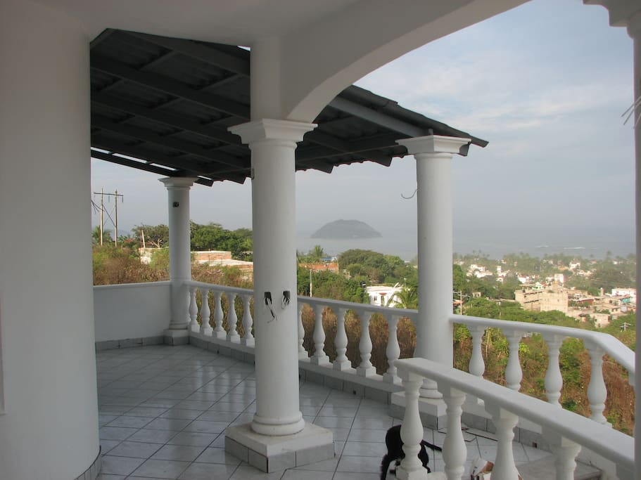 Front Terrace, Entrance to house and spectacular ocean views.