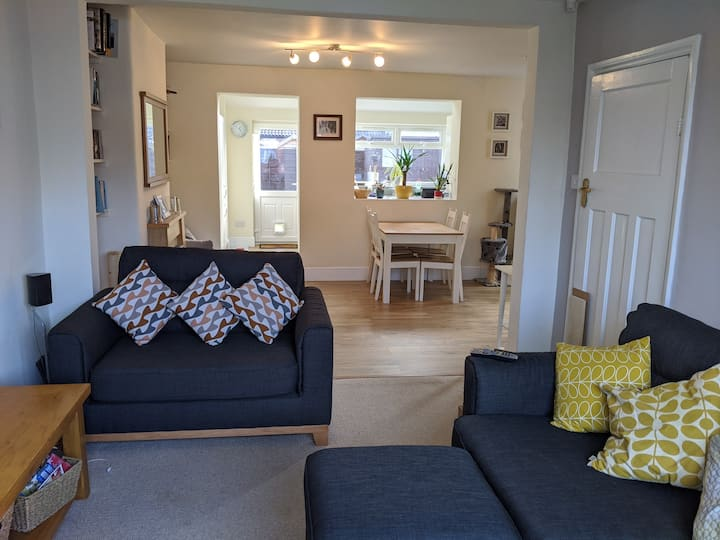 Double room in open plan house