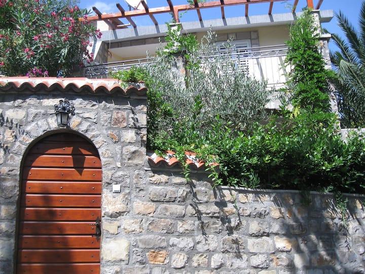 Sea-side Old Stone Villa with a Private Garden