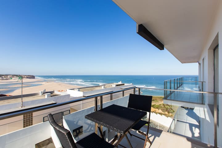 Nice panoramic view over sea ocean - Foz do Arelho - Apartemen