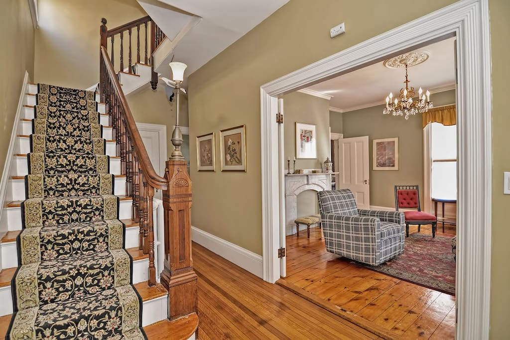 Welcome Home-The gracious and elegant front hall.