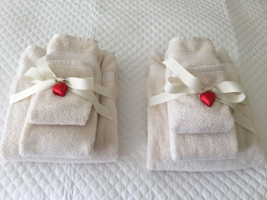 Towels and chocolates!