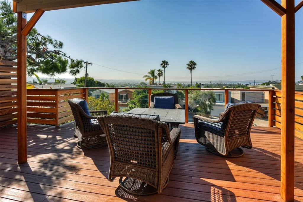 Enjoy fabulous sweeping views of the city and Ocean Bay!
