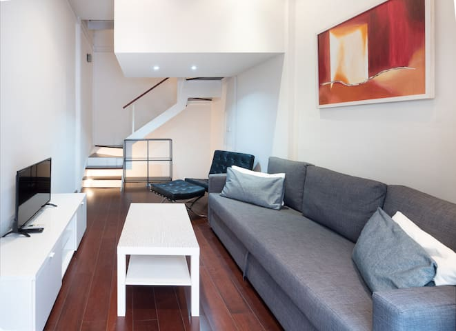 Tiny City House in Seville Centre, Private Terrace, Modern Design