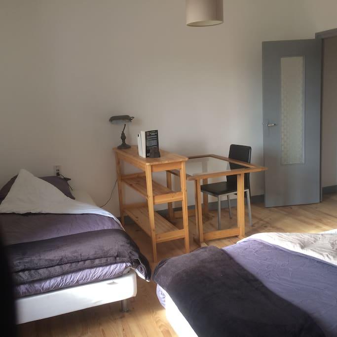 """La chambre """"Champagne Oudart"""" deux lits simples"""