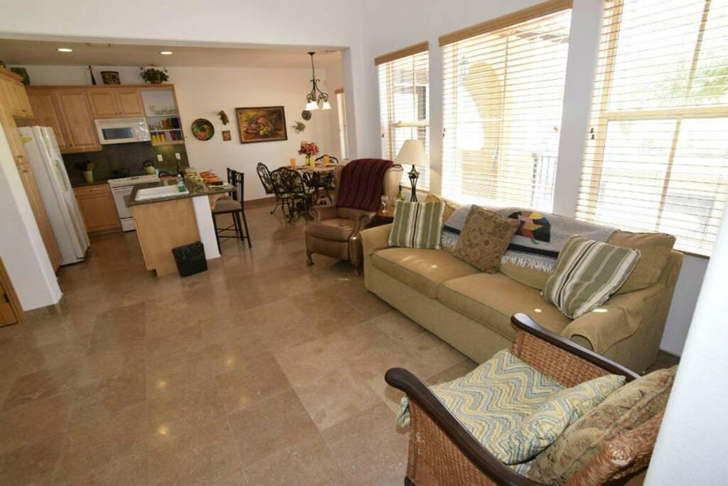 El Dorado Ranch San felipe Rental Condo 211 - open floor plan