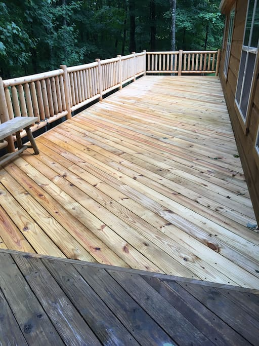 This is our brand new deck extension!