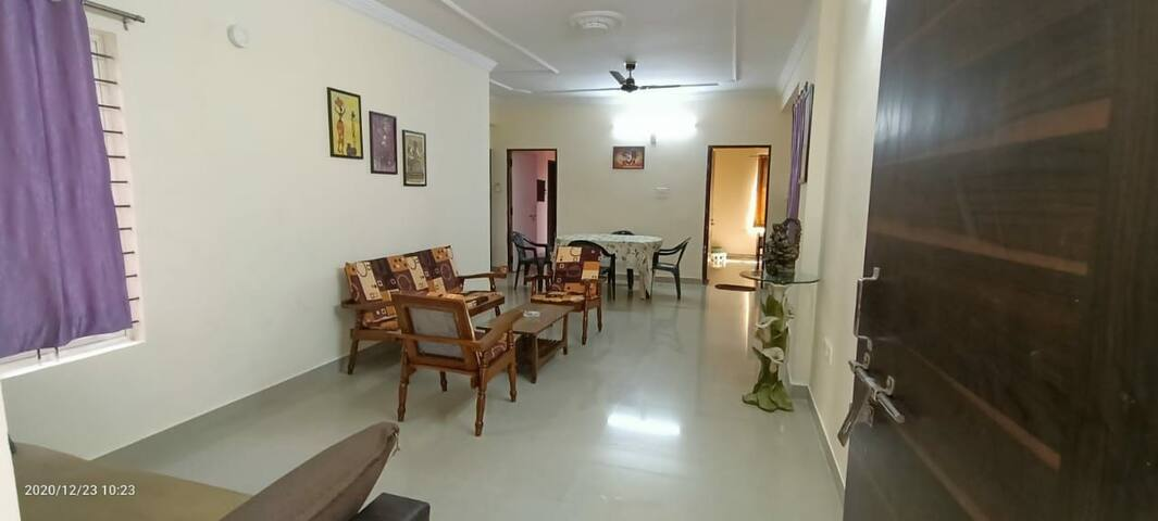 A 3BHK top floor apartment with all basic facility