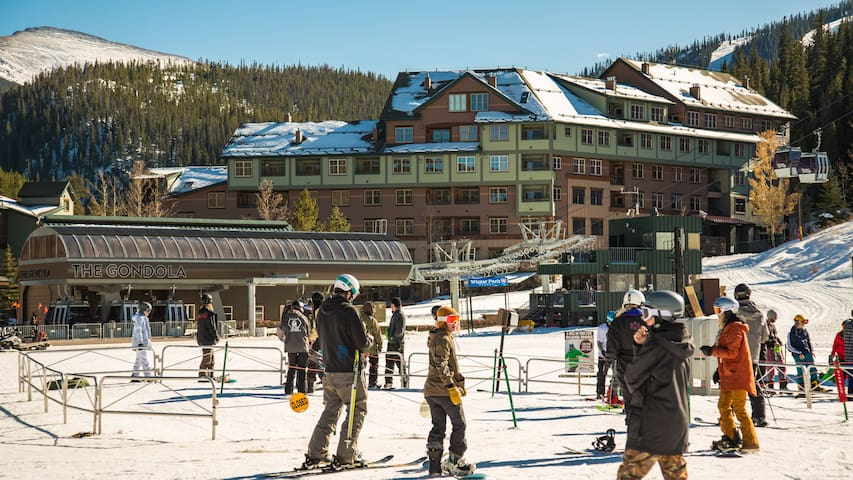 Zephyr Slopeside Ski in/out located directly across from The Gondola