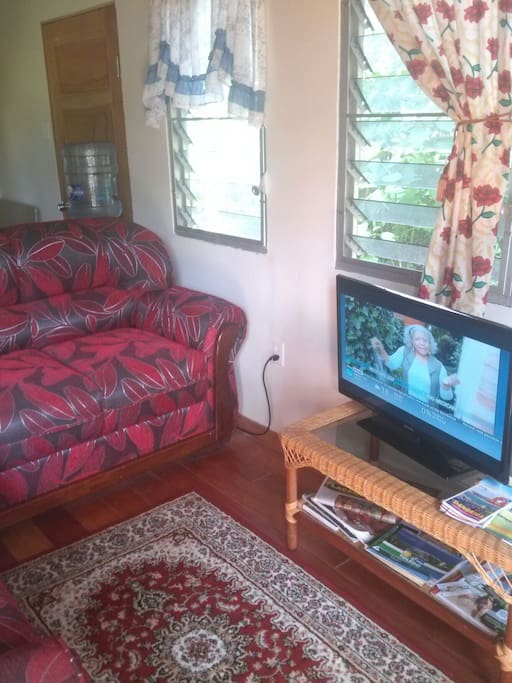 Sofa and cable television