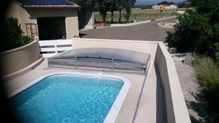 T3 entre campagne et piscine - Livron-sur-Drôme - Apartamento