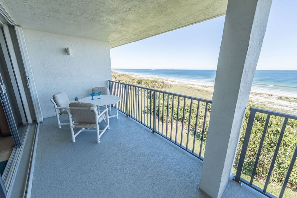 Walk out to the gorgeous view of the ocean from both the master bedroom & living room