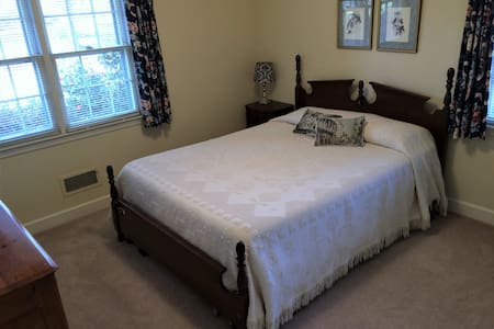Sunny Queen Bedroom - minutes to downtown - Hartsville - Casa