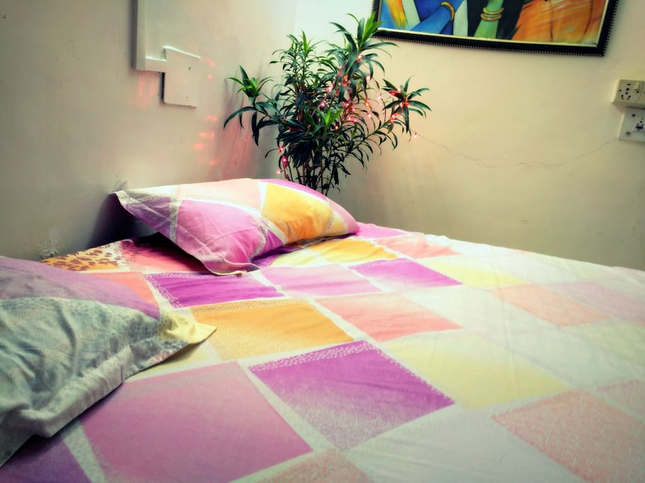 Room interior..with double bed