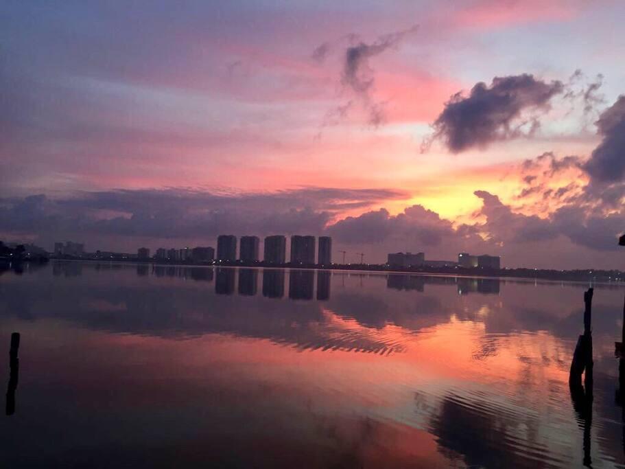 El amanecer tranquilo