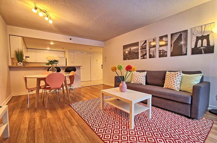 2BDR Modern &Spacious in downtown, 3 beds, sleep6