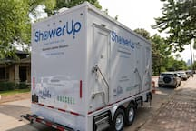 Shower Up truck donated by The Russell to help the Nashville homeless community.  Free showers given downtown multiple nights per week.