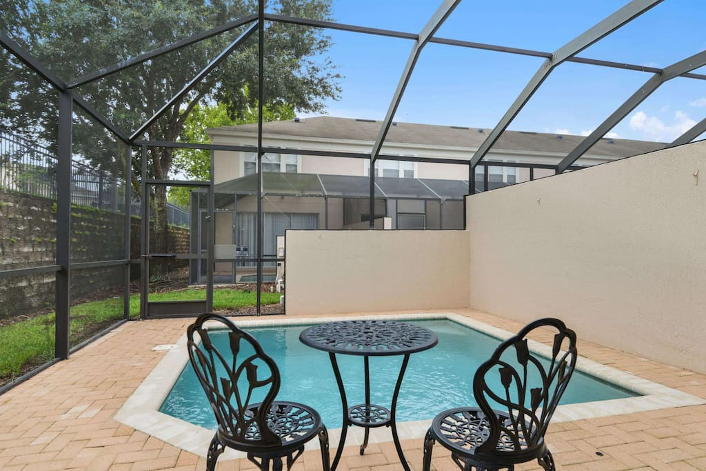 Sit and soak in the sun around this crystal clear pool and make hundreds of happy memories of your vacation to the Walt Disney World® Resort area when you stay in this extra special vacation town home.
