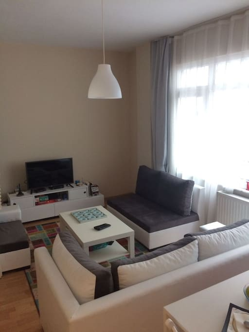 Enjoyable living room with our smart TV
