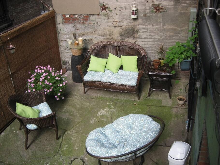 Shared backyard space