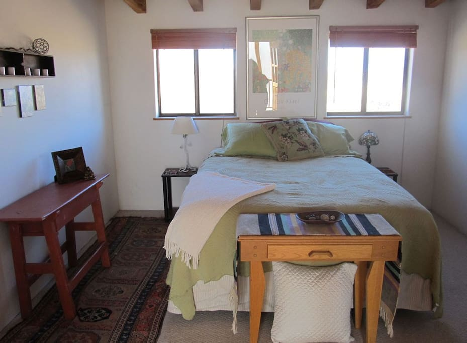 Plenty of private space -2nd queen beds with closing doors.