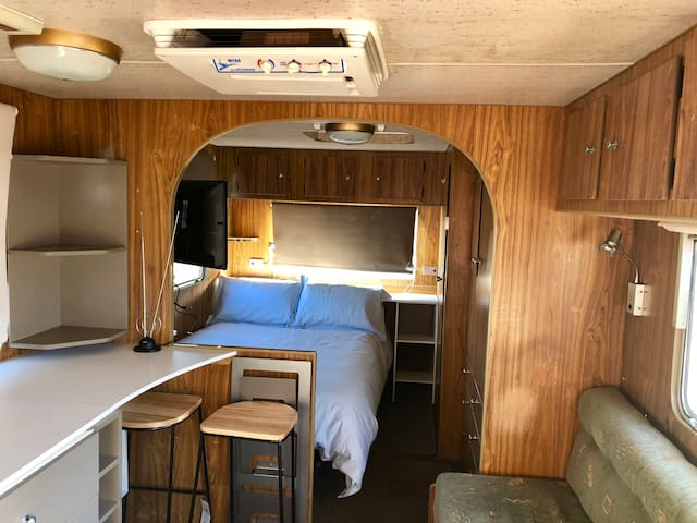 Enjoy the Australian Outback experience in your own caravan. Step outside at night and enjoy the stars