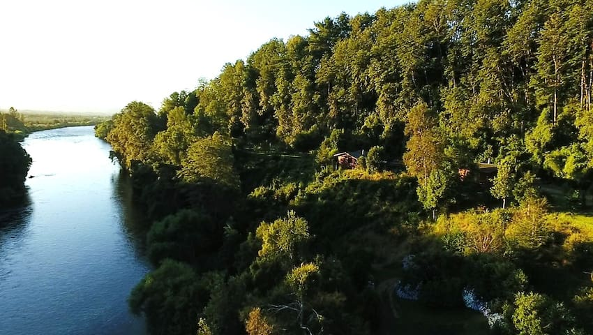 CABAÑA en Río Toltén-Las Dalias-Toltén Lodge