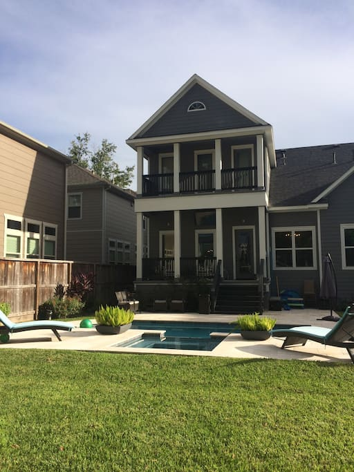 Beautiful heated pool and hot tub for your enjoyment.