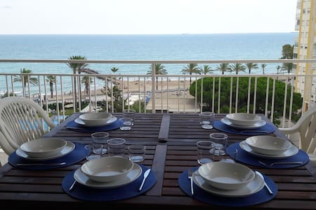 Sea view apartment with pool. 1 min to beach