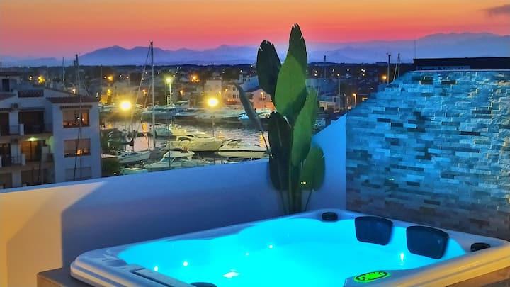 LUXE :Toit terrasse Jacuzzi privatif vue 60m plage