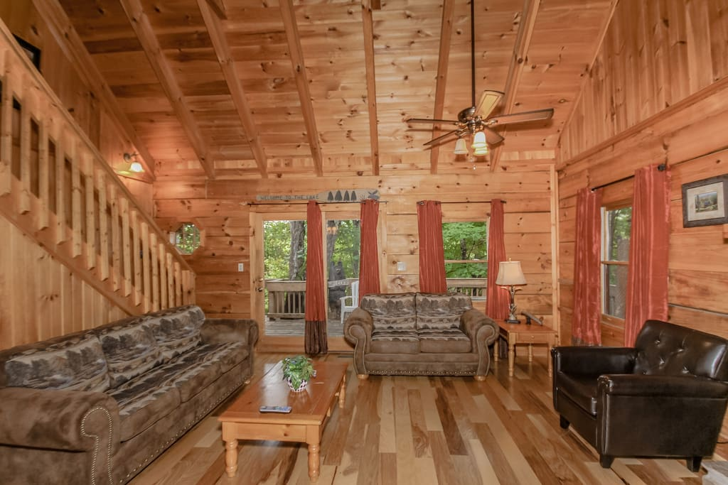 Great room with access to back deck