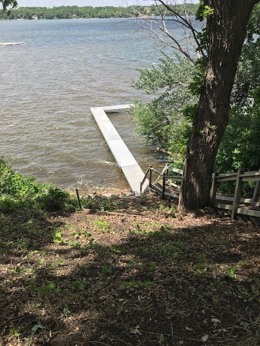 Stairs down to the dock for easy water access!