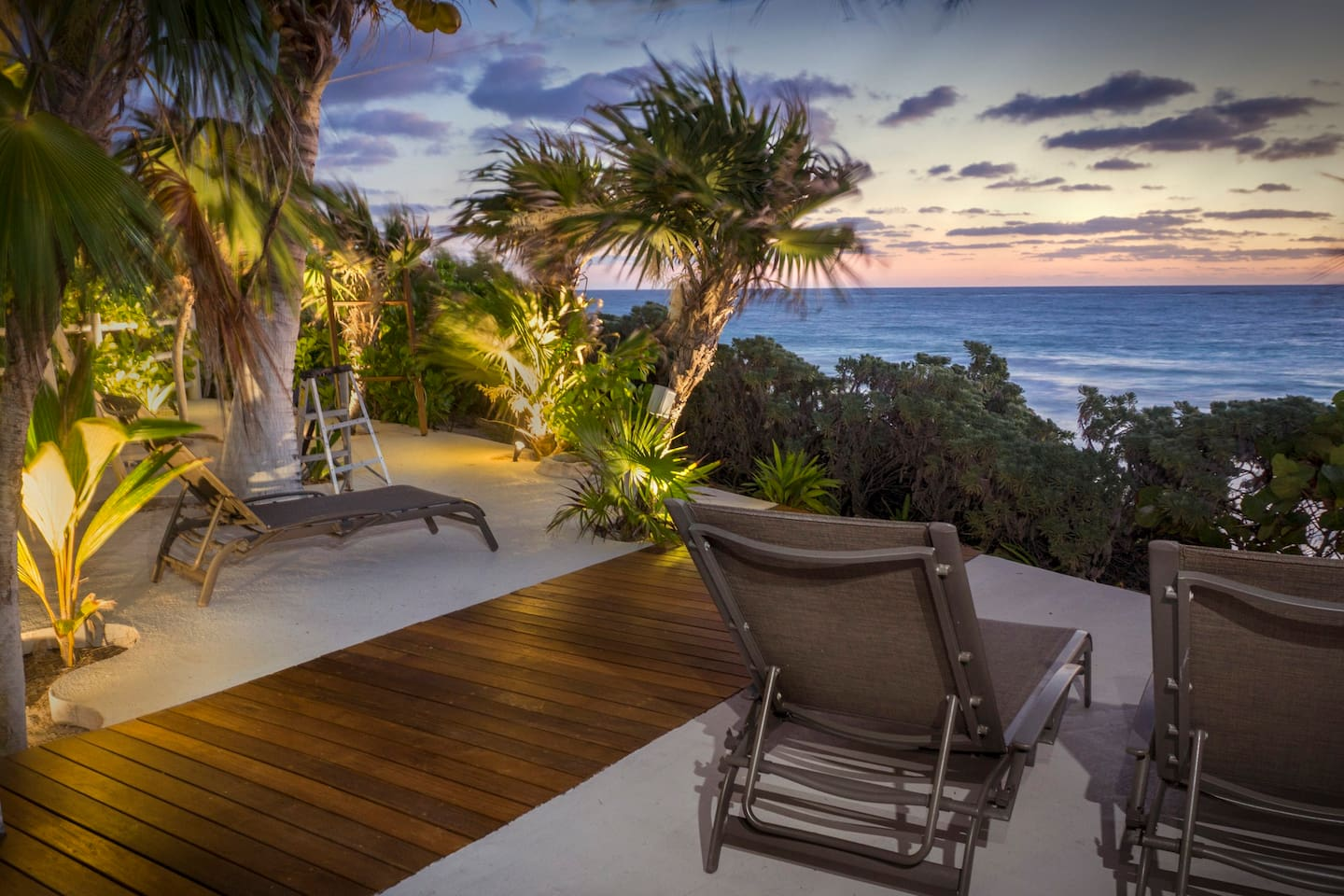The ocean front terrace is where you can enjoy the cool ocean breeze right at your doorstep, Star Gaze or have a refreshing drink under the Caribbean sky. The view is amazing! Come relax and take the vacation you deserve.