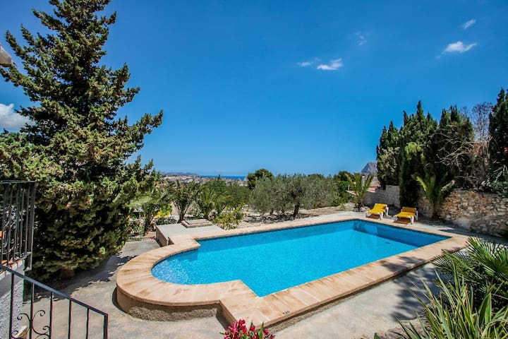 Laura-29A - pretty holiday property with garden and private pool in Calpe
