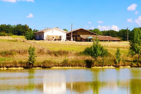 Quatre Chemins - a rural smallholding with pool - Sérignac-Péboudou - Casa