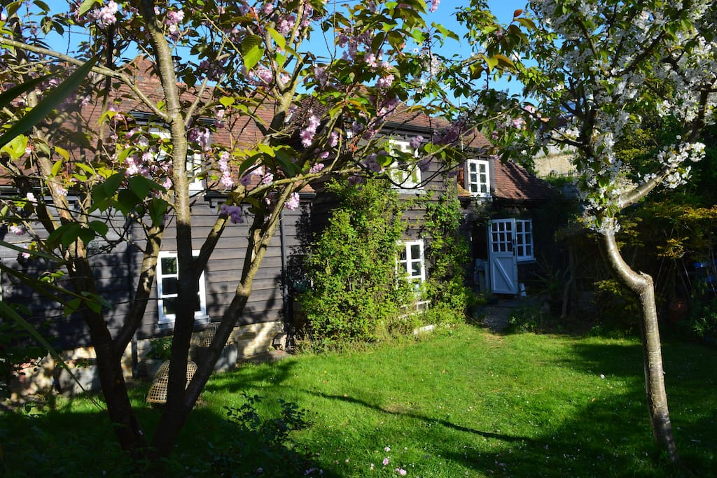 The Old Rectory Barn - seen from The Garden House
