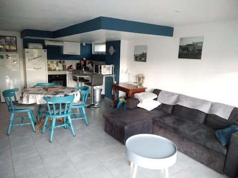 House with 2 bedrooms in Bouvelinghem, with furnished garden and WiFi - 30 km from the beach